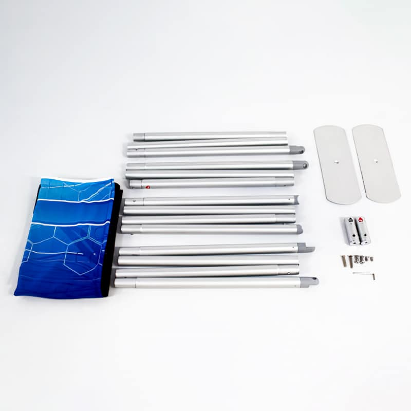 photo of full kit hardware for tube frame fabric pillowcase display
