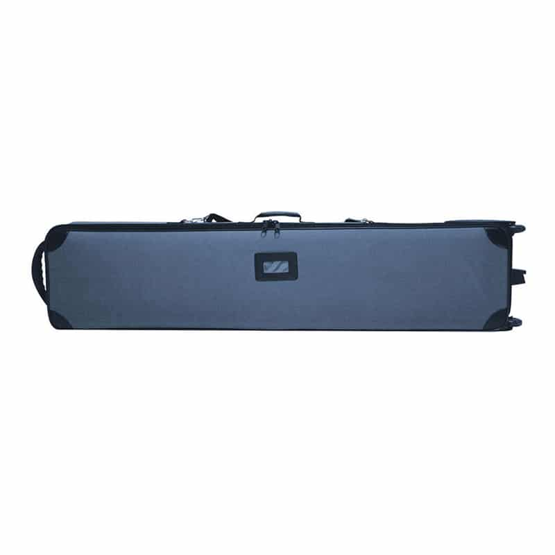 gray carry bag included with tube frame fabric pillowcase display