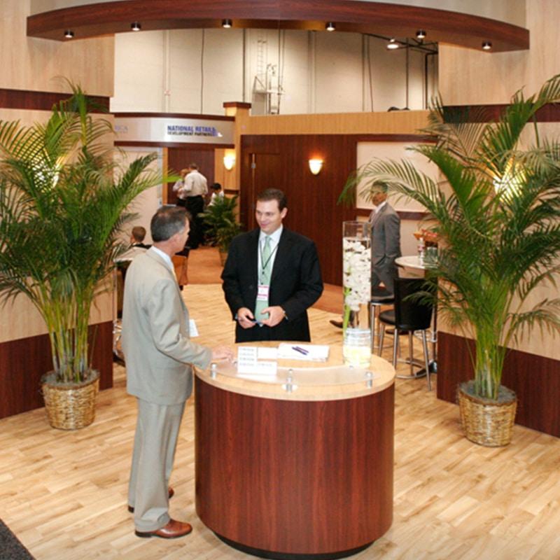 flex floor gallery example, wood pattern hotel lobby