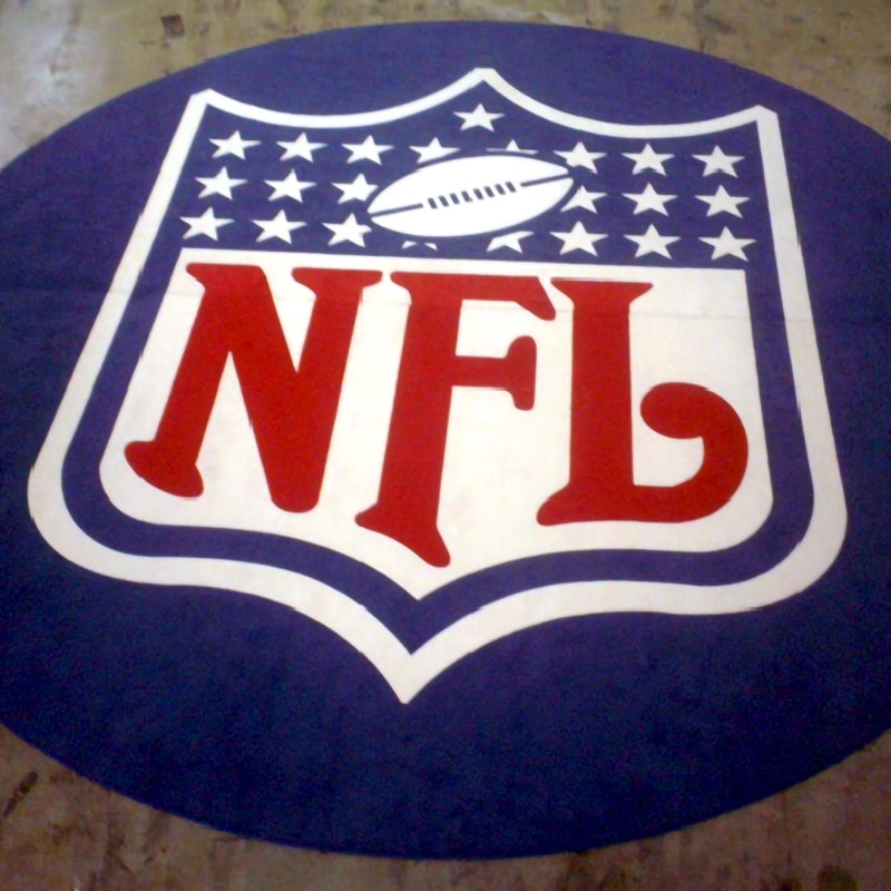 digital print carpet NFL logo