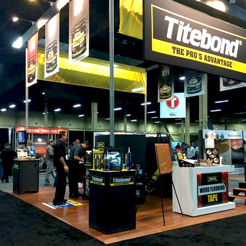 magnitude raised magnetic floor gallery image, tradeshow booth example