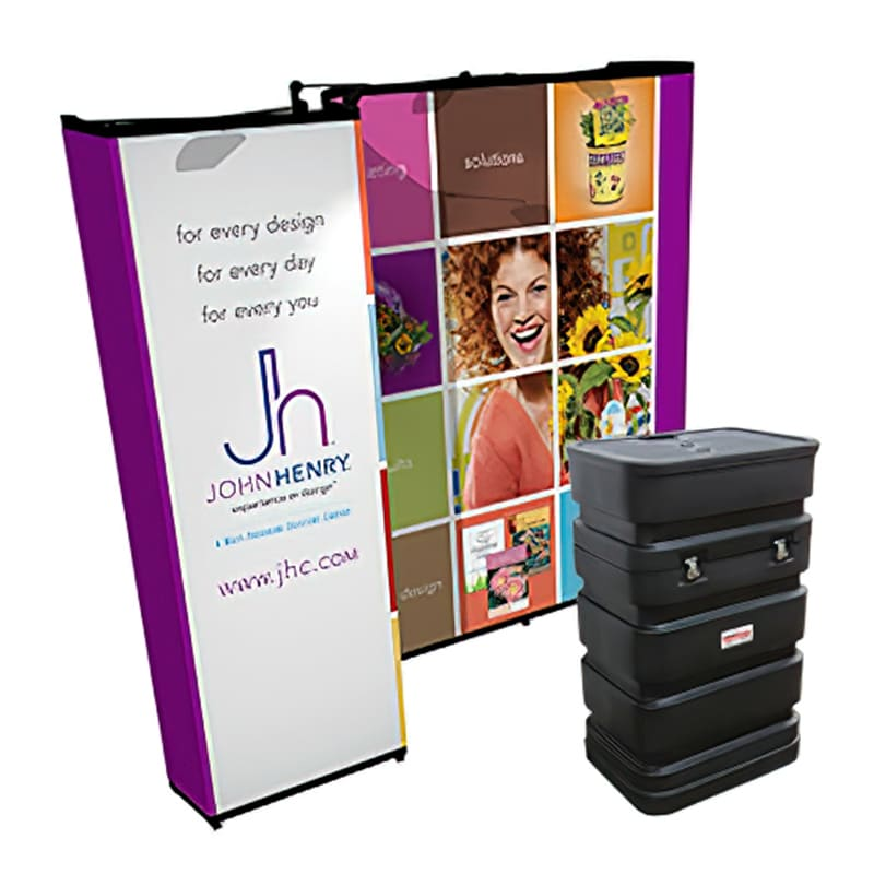 10 x 10 Pop up Trade Show Display-Gemini, kit with case