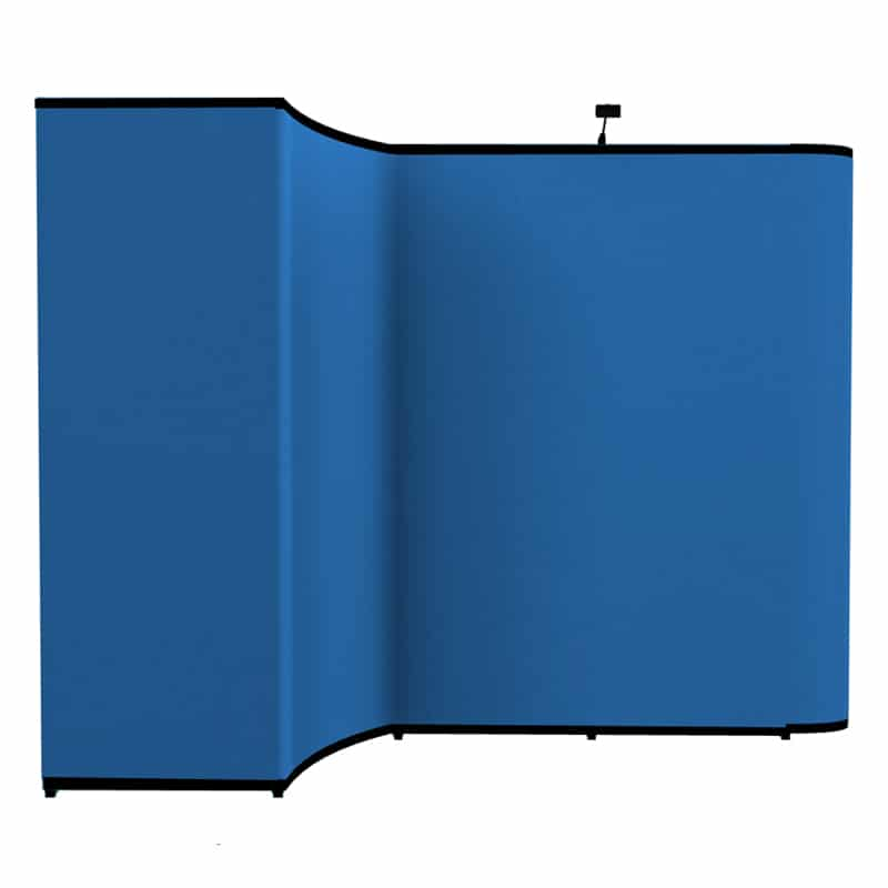 10 x 10 Pop up Trade Show Display-Gemini uniquely shaped exhibit booth render