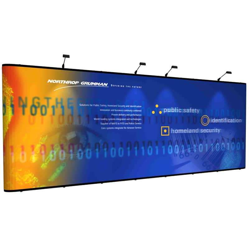 20' US Pop Up Flat Display - Tempest