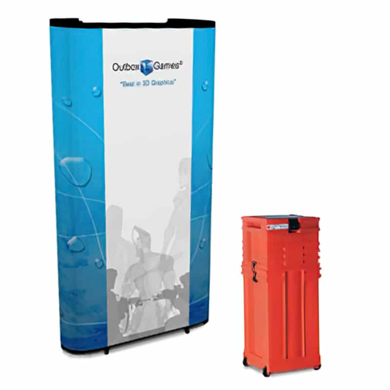 5 foot flat tower with inkjet graphics , kit with hard ship case