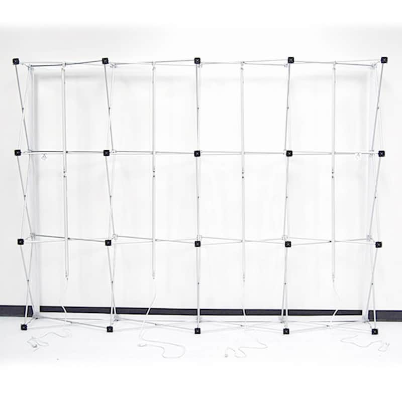 photo showing backside of 3 x 3 Backlit Flat LED Display VBurst frame
