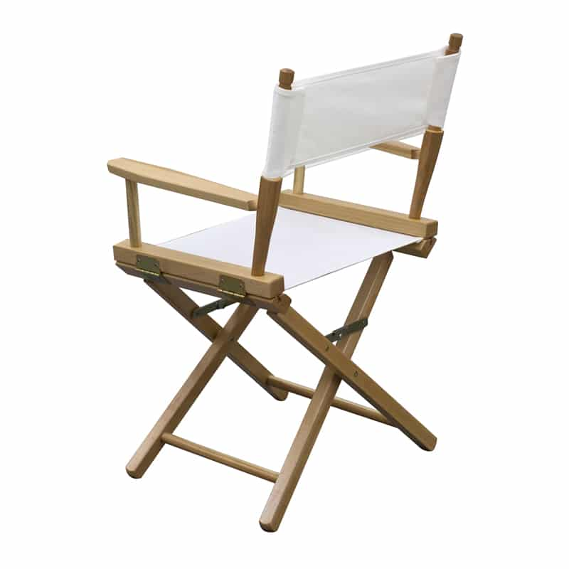 short director chair white showing side