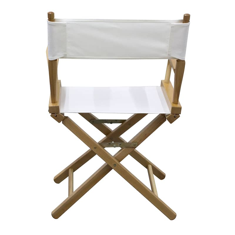 short director chair white showing back