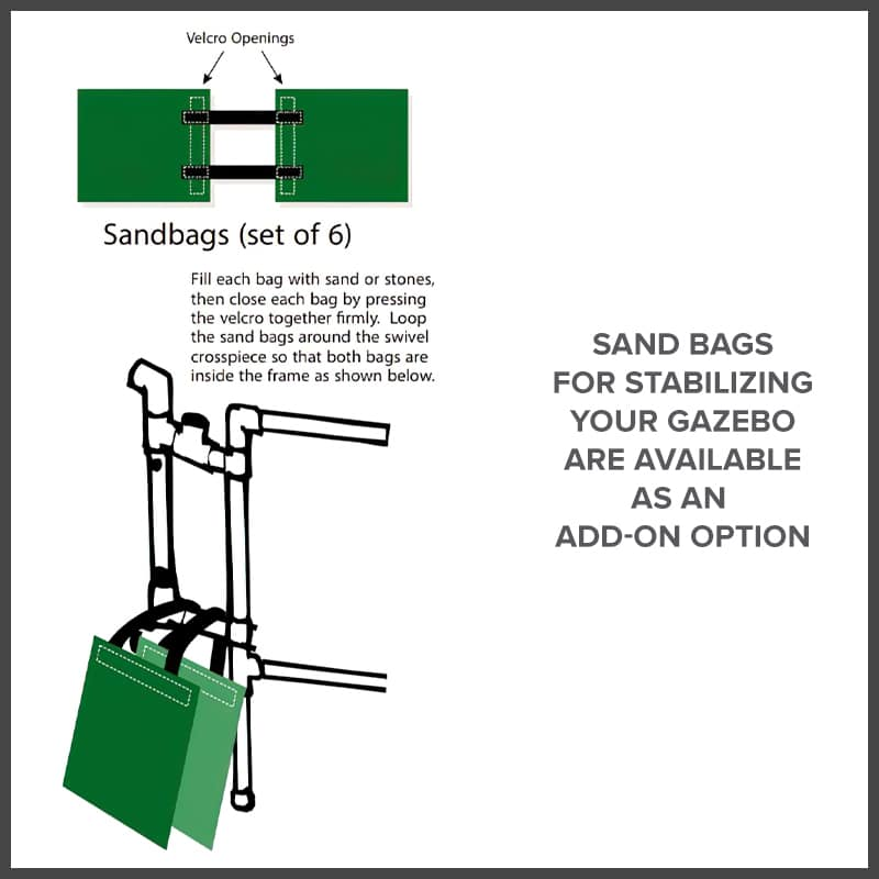 gazebo accessory - sand bags for stabilizing