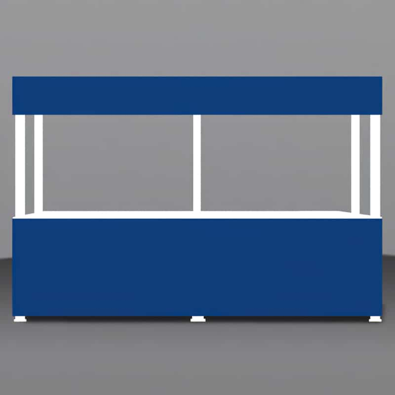 Portable Branded Gazebo-12 Foot Valance render, showing front view