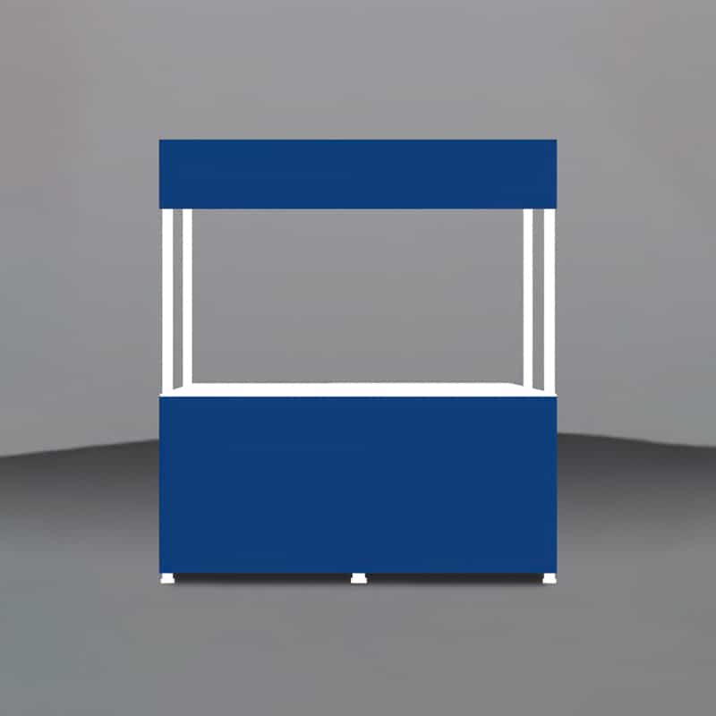 Portable Branded Gazebo-6 Foot Valance render of unprinted panels
