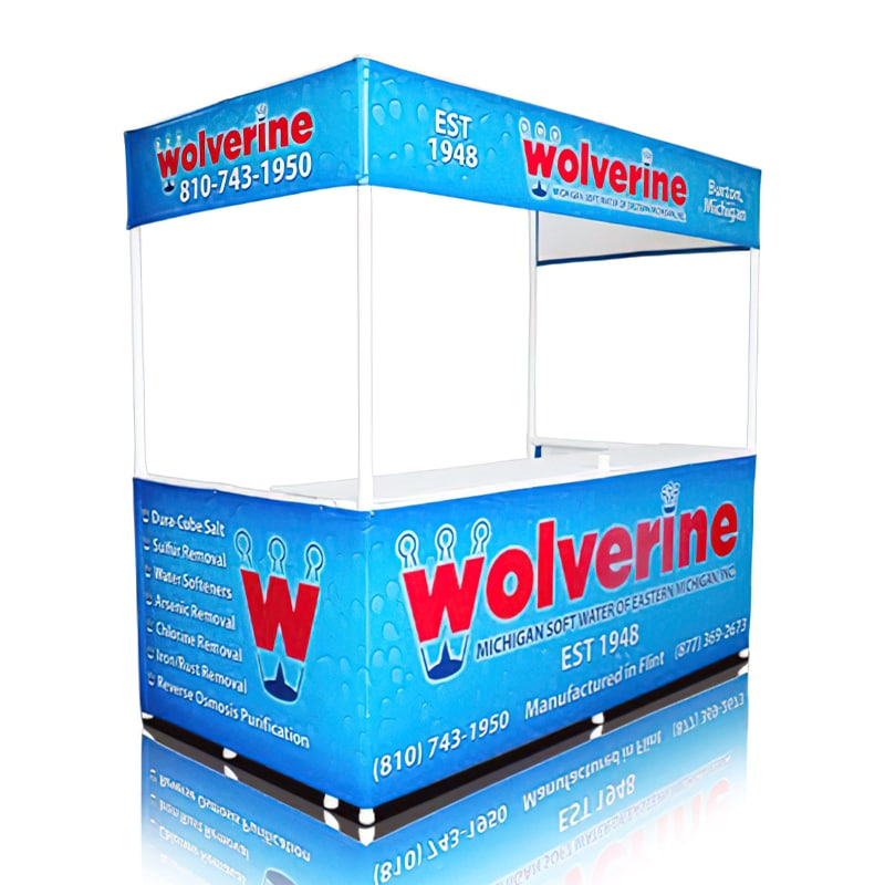 Portable Branded Gazebo-8 foot Valance fully printed