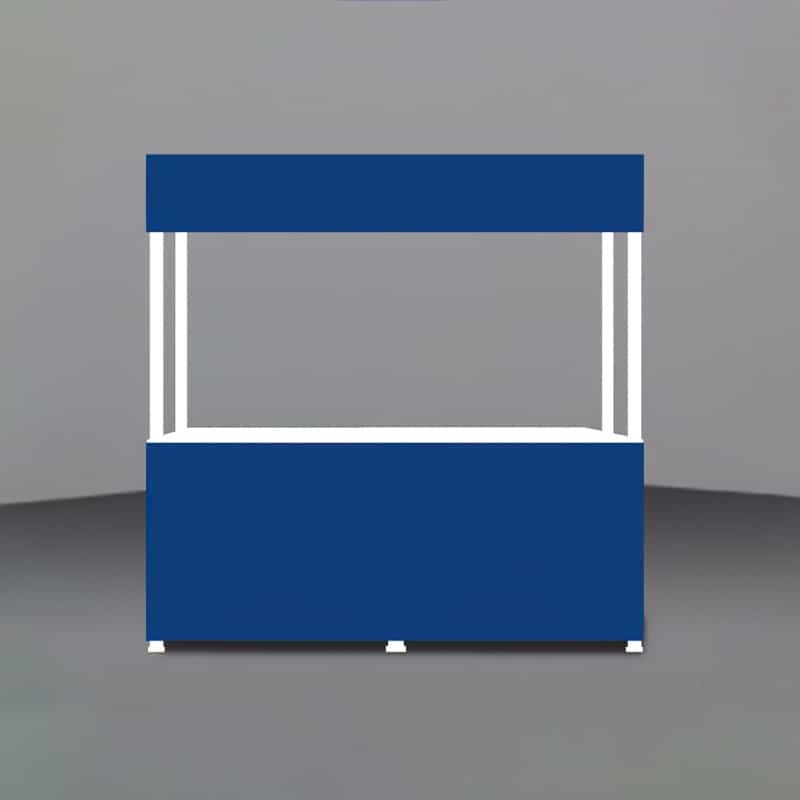 Portable Gazebo-8 foot Valance render showing unprinted panels