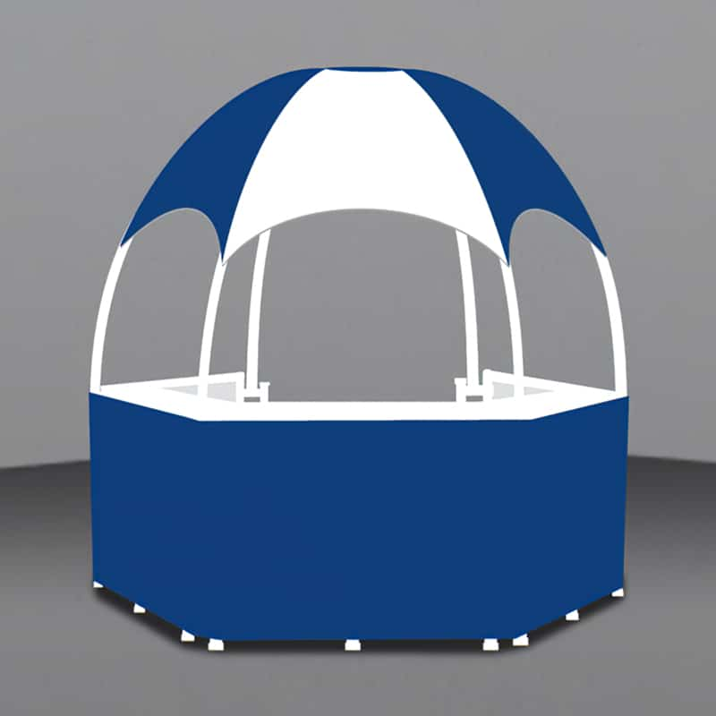 8 Foot Branded Gazebo render showing printing areas