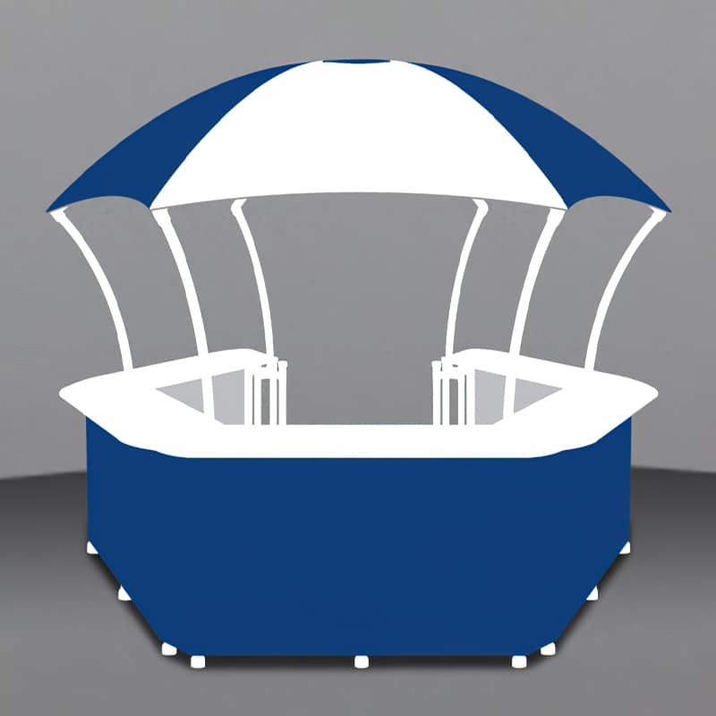 10 Ft Branded Gazebo render showing individual graphic areas