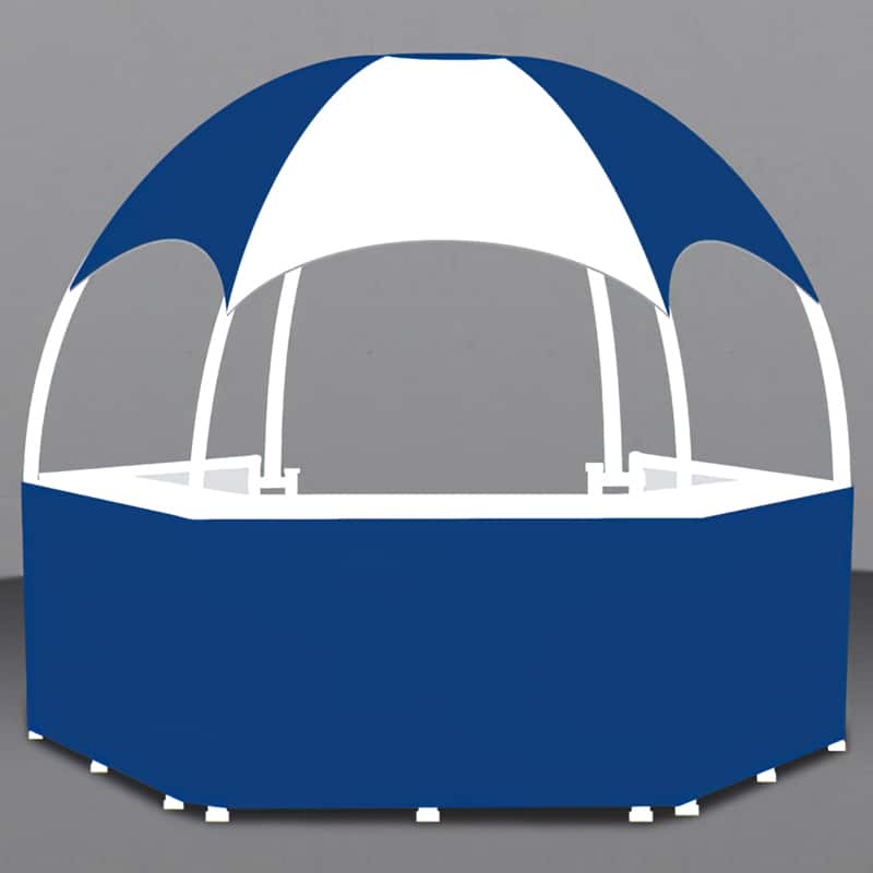 12 x 12 Branded Gazebo showing individual graphic areas