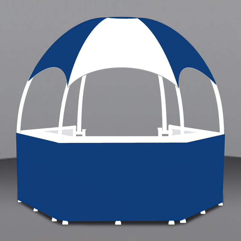 10 x 10 Branded Gazebo render of graphic areas