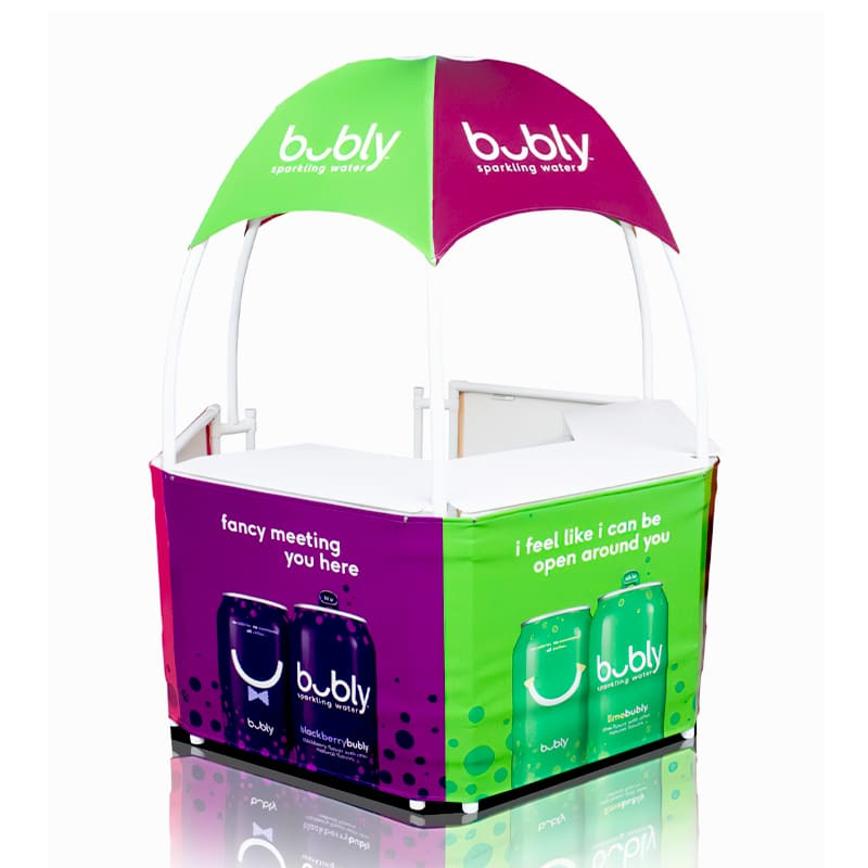 7 Foot Branded Gazebo with colorful printed graphics
