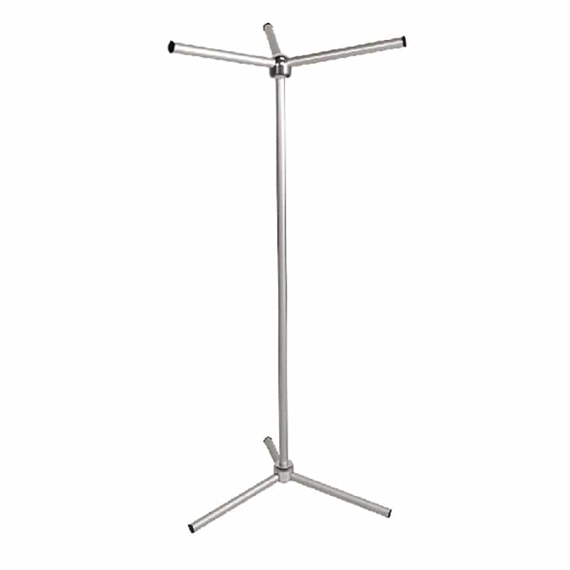oasis bag stand for tradeshows and mobile retail silver hardware only