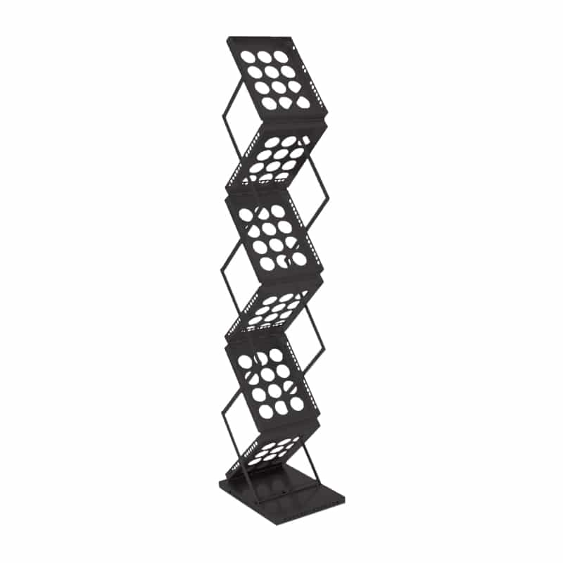 Double Literature Stand-Black Color