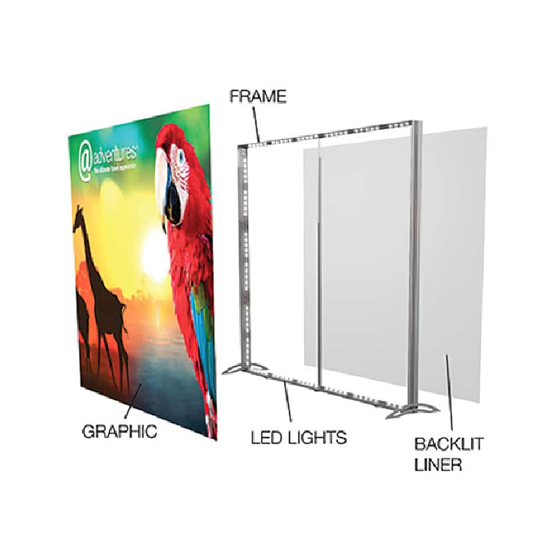 lightwall backlit SEG display breakdown