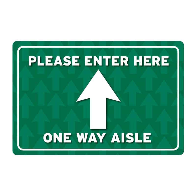 Floor Direction Image Signs-Enter Here