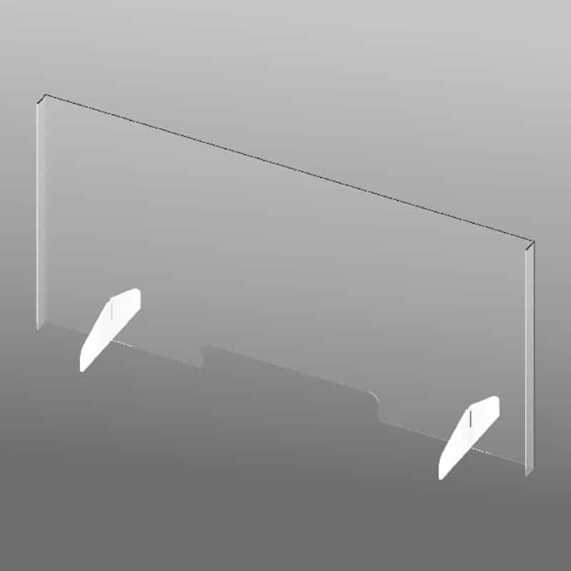 "22"" Clear Plastic Shield-slotted"