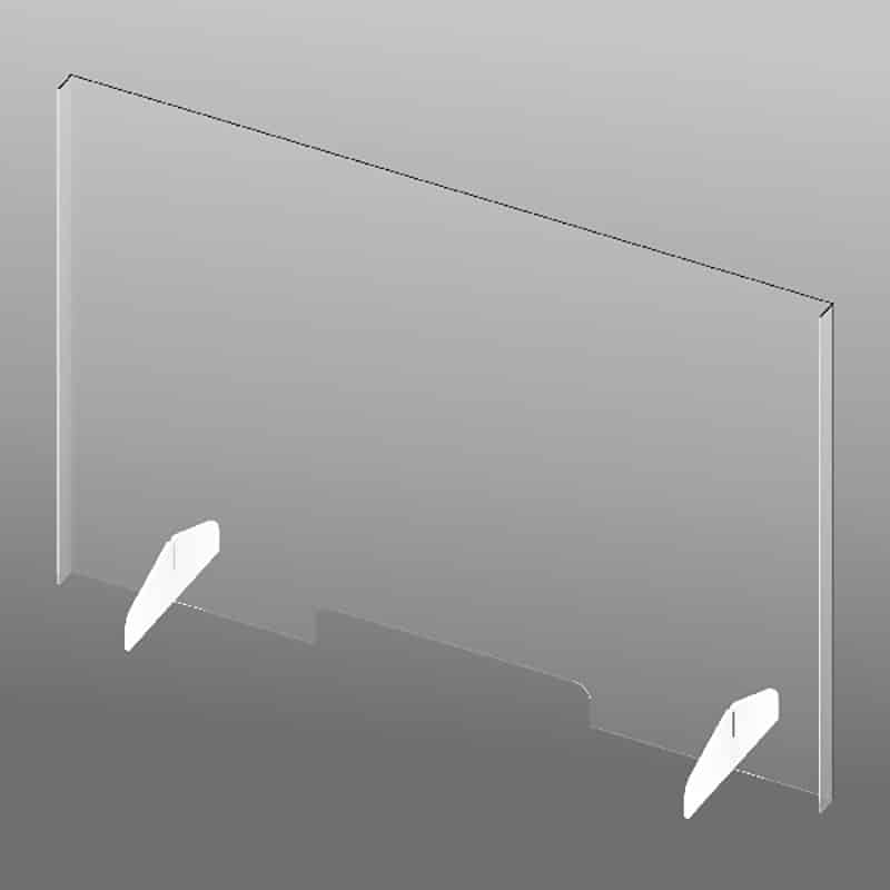 "31"" Clear Plastic Shield-slotted"