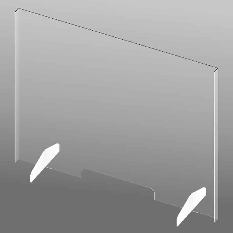 "33"" Clear Plastic Shield-slotted"