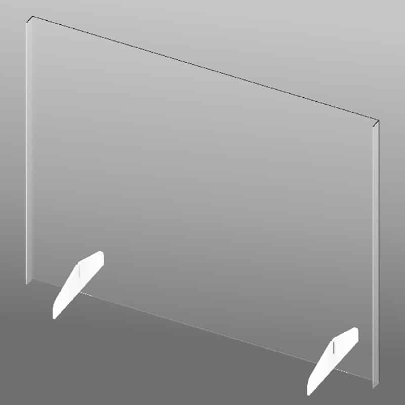 "33"" Clear Plastic Shield-no slot"