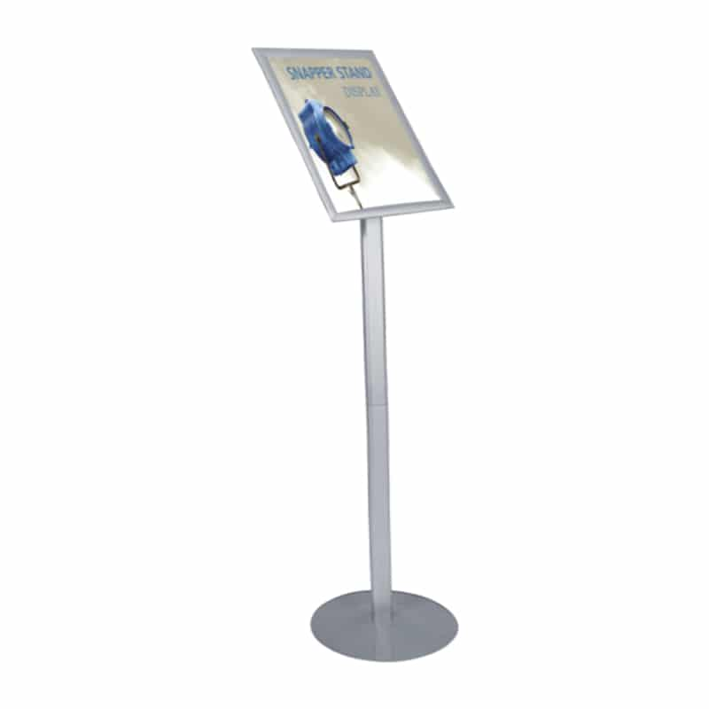 snapper signs stand side view