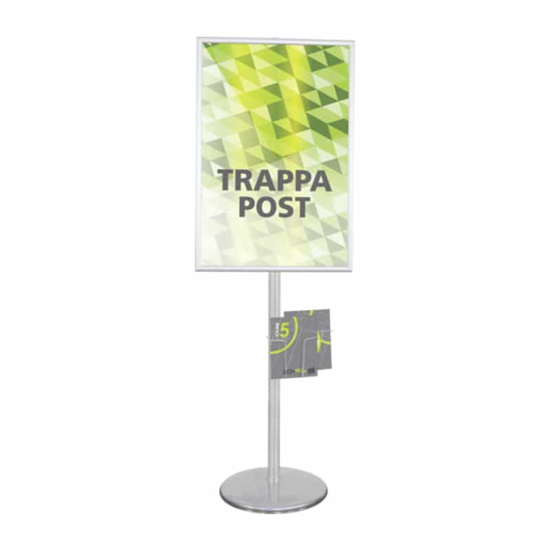 trappa multiple sign stand, large vertical with literature rackorientation