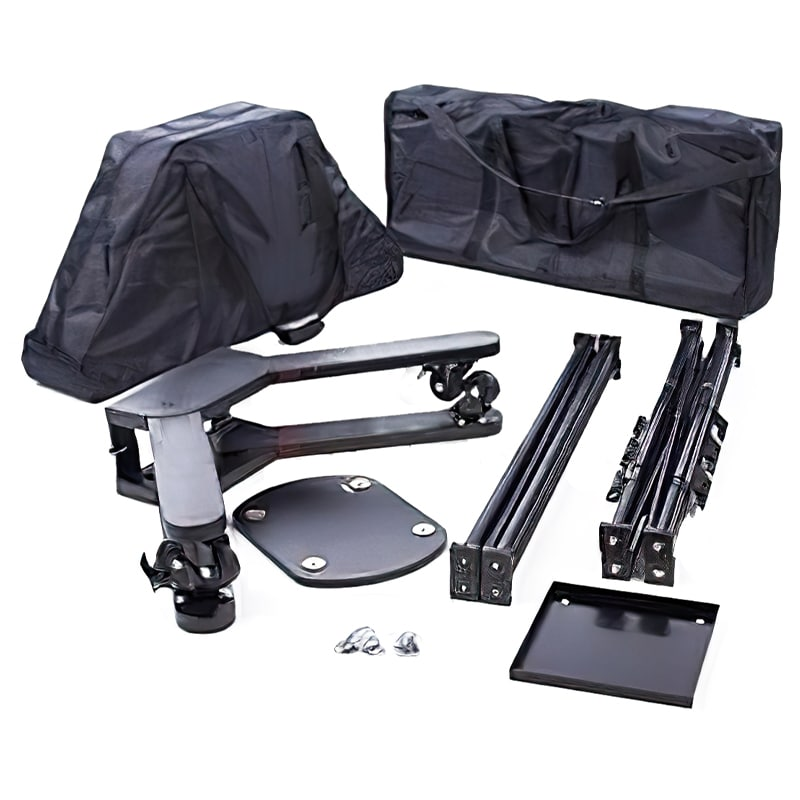 portable double-sided monitor stand full hardware kit with carry bags