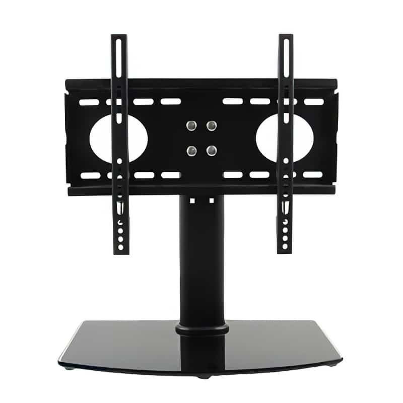 portable table-top monitor stand black hardware only