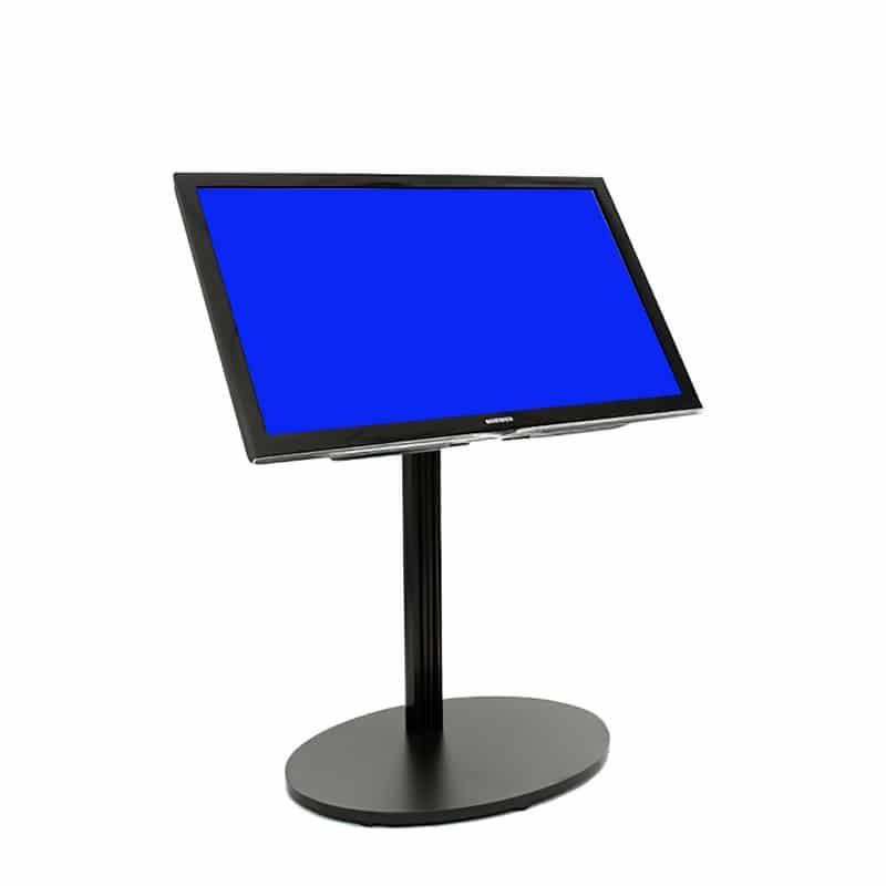 flat panel short monitor stand black