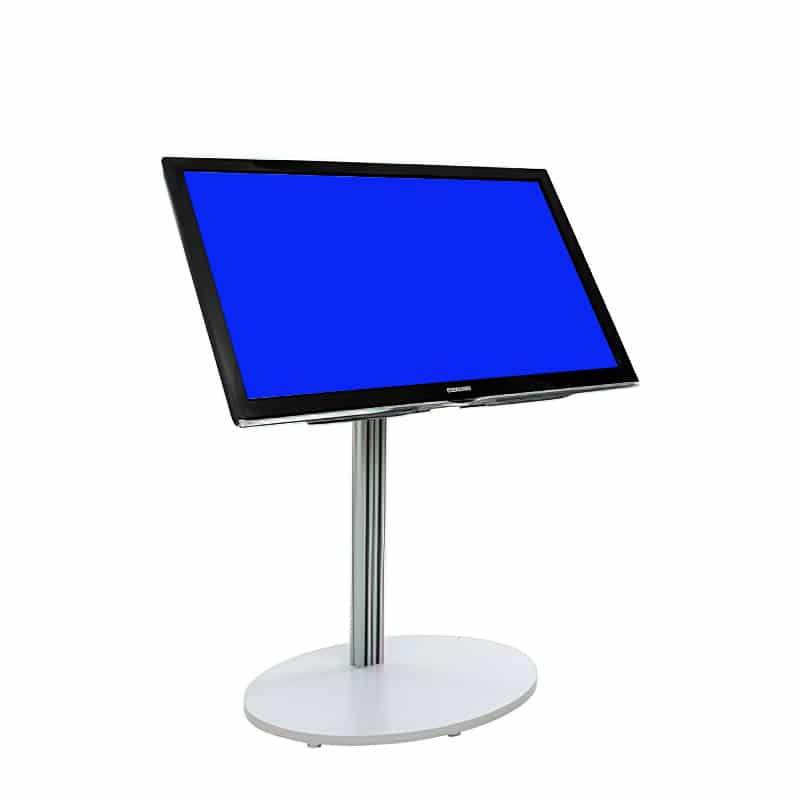 flat panel short monitor stand silver