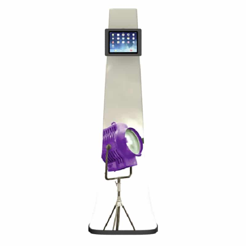 fabric pillowcase graphic ipad media stand, front view