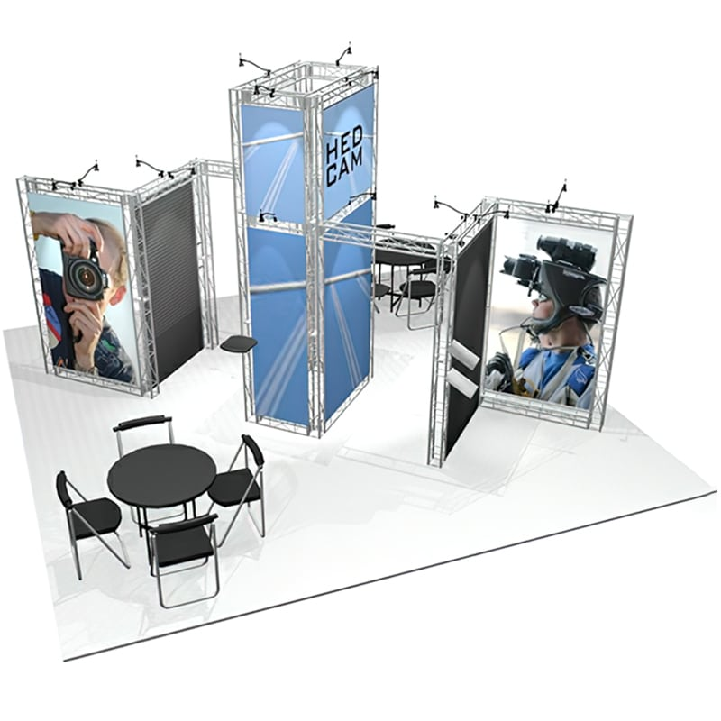 20 x 20 Industrial Display with lights, cases and graphics
