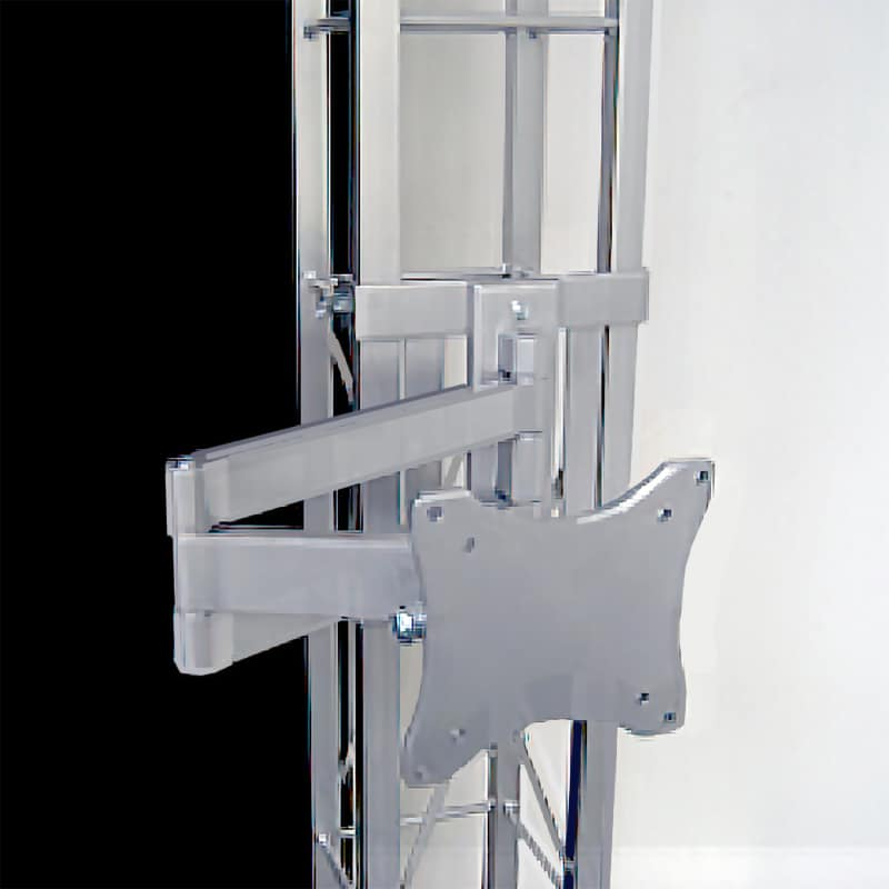articulated monitor mount bracket for truss displays