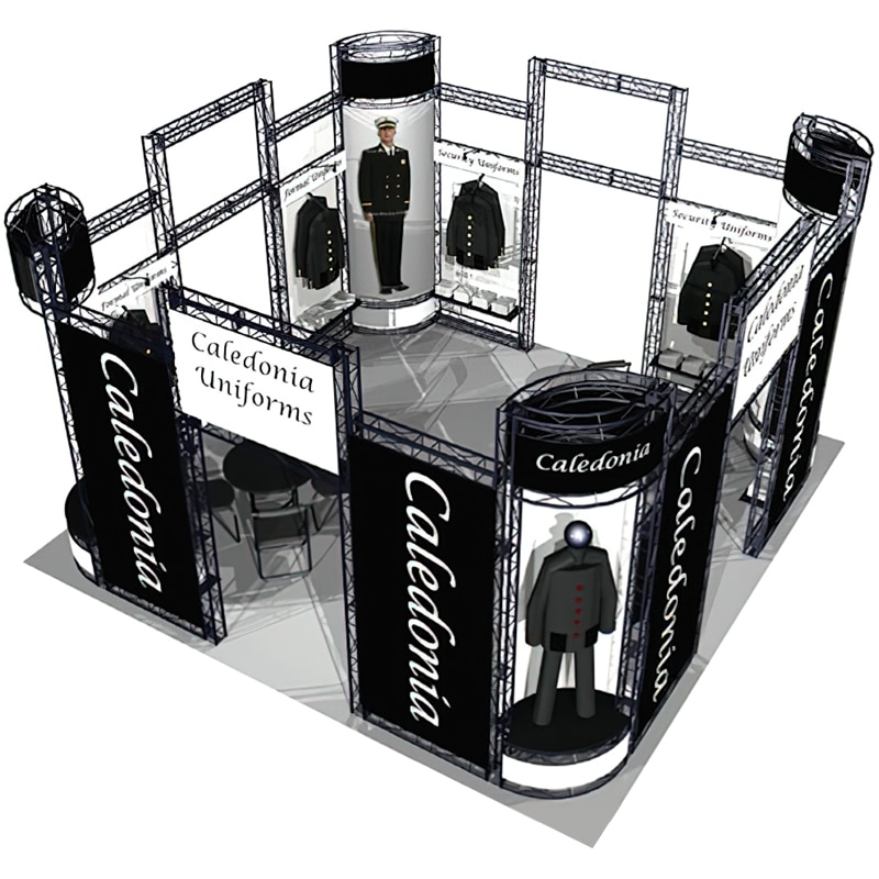 20 x 20 Retail Display with hardware, lights, cases and optional graphics