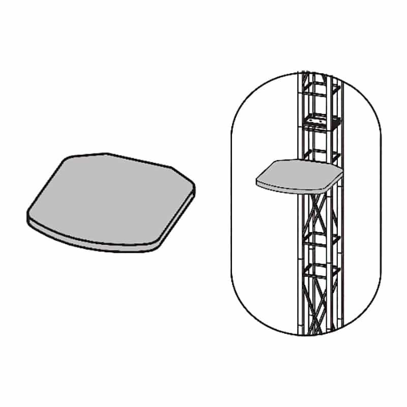 truss system laptop shelf iso image, 12 inch