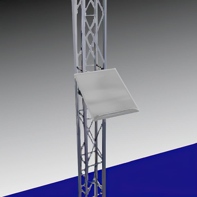 truss system metal shelf render, 12 inch