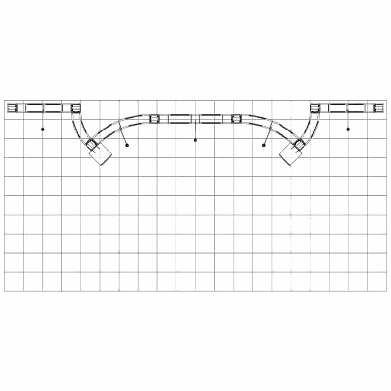 20 x 8 Aluminum Metal Display - Potrero 10x20 floorplan view