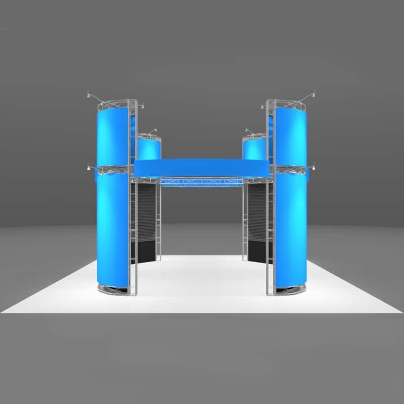 20 x 20 High Tech Display - Presidio graphic areas callout