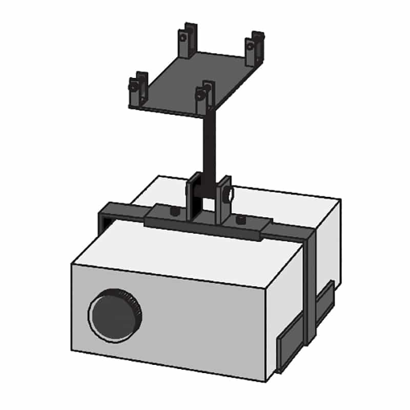 projector mount for truss display hardware
