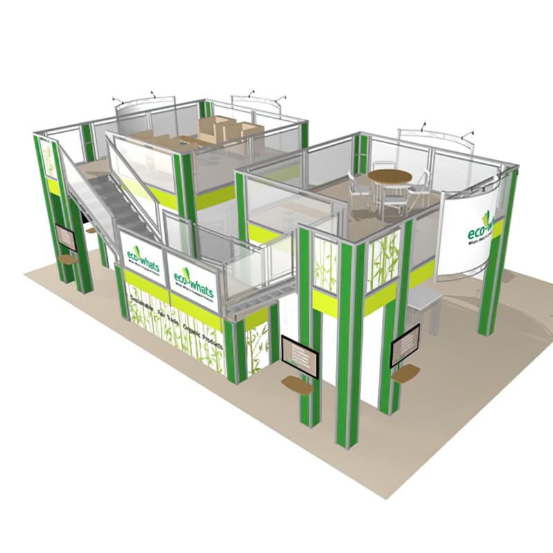 30 X 40 Two Story Display - Eco Whats aerial view