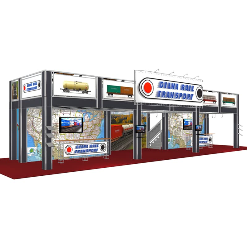 20 X 50 Two Story Display - Gilna Rail front ground level
