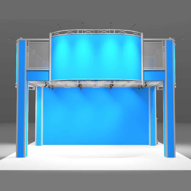 20 X 20 Double Deck Display - Mercent front view ground level