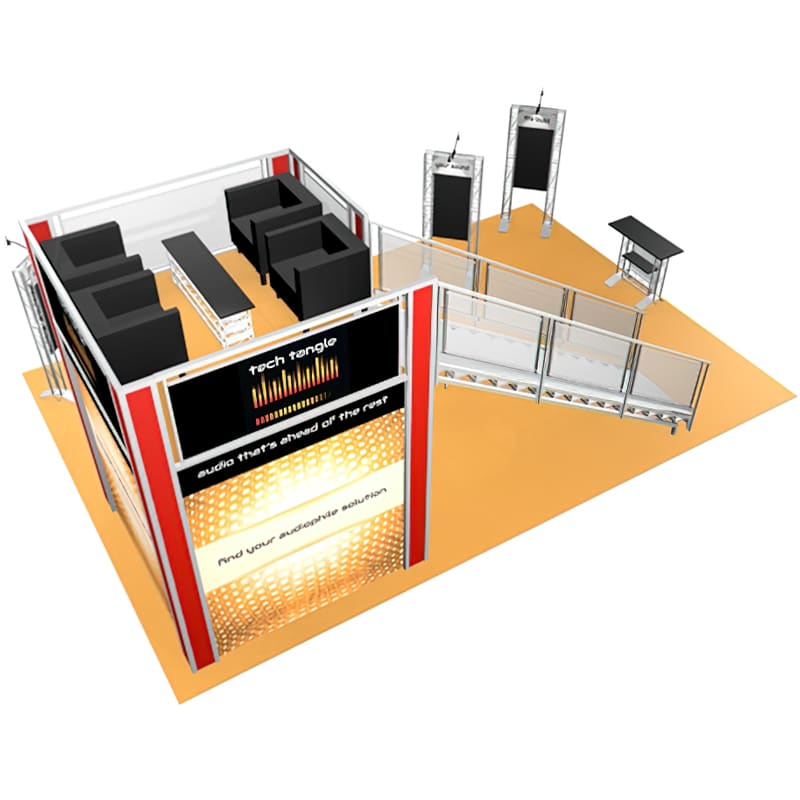 20 x 30 Double Deck Display - Tech Tangle upper side view