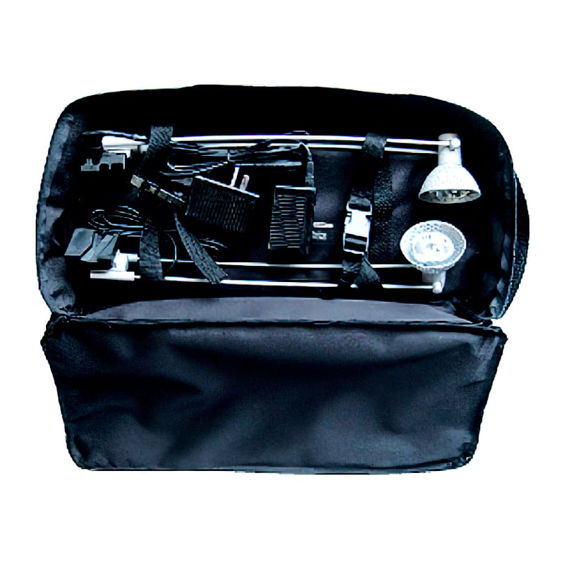 x-snap pop-up display lights carry bag, black